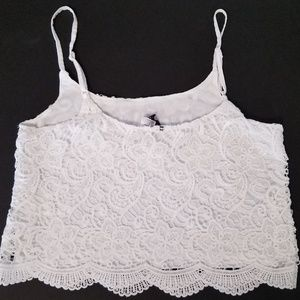 divided H&M lacy crop top